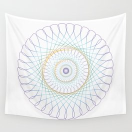 Iridescent Spirograph Pattern I Wall Tapestry