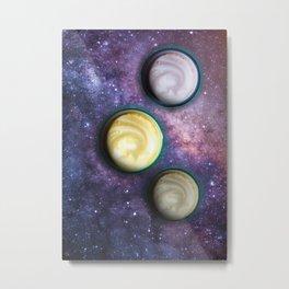 Cappuccino Planets Metal Print