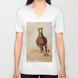 Galloping Horse Unisex V-Neck