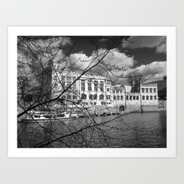 York Guildhall on the river Ouse Art Print
