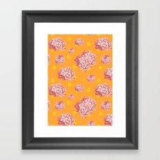 hydrangea polka Framed Art Print