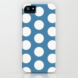 Large Polka Dots on Blue iPhone Case