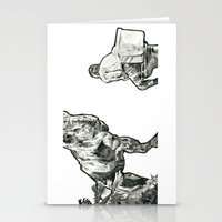 jurassic park Stationery Cards featuring jurassic by BzPortraits