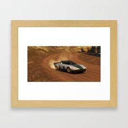 Lancia Rally Car mid Drift Forza Framed Art Print