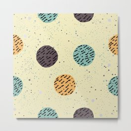 Terracotta Pattern in modern colours Metal Print