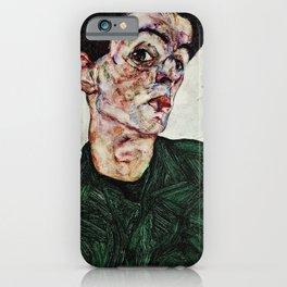Egon Schiele - Self-Portrait with Chinese Lantern Plant iPhone Case