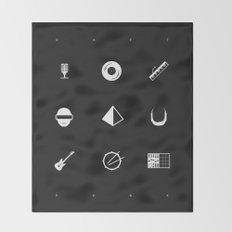Tribute to Daft Punk, B&W. Throw Blanket