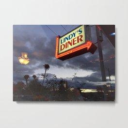 Lindy's Diner Metal Print