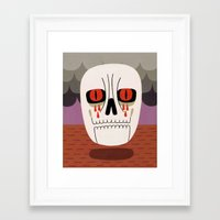 fear Framed Art Prints featuring Fear by Jack Teagle