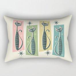 Retro Patchwork Tabbies ©studioxtine Rectangular Pillow
