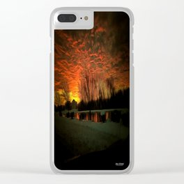 Suburbia At Sunset Clear iPhone Case