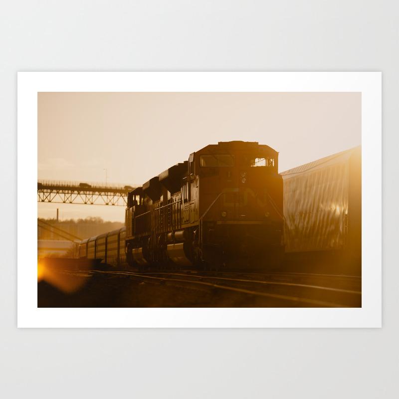 Cn Train Colour Art Print By Evancoates Society6