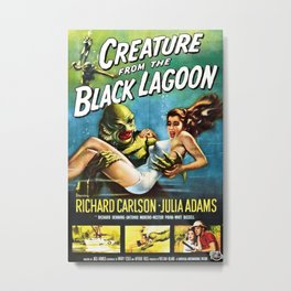 Creature from the Black Lagoon, vintage horror movie poster Metal Print