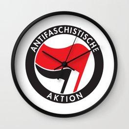 Antifa T-Shirt Antifaschistische Aktion Wall Clock