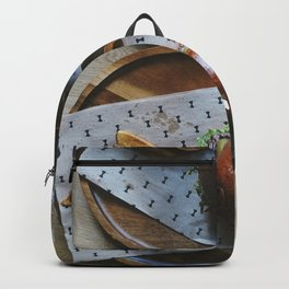 Burgers and beers food photography Backpack