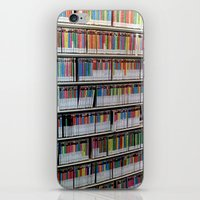 bookworm iPhone & iPod Skins featuring Bookworm by Anabella Nolasco