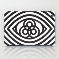 third eye iPad Cases featuring Third Eye by cmyka