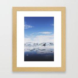 Ripple + Ice (Jokulsarlon, Iceland) Framed Art Print