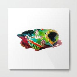 Colorsfull sheep skull Metal Print