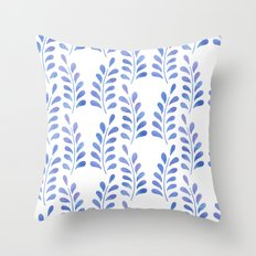 Blue floral pattern 2 Throw Pillow