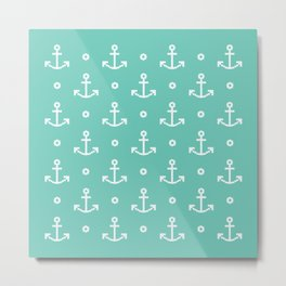 PIXELATED // Anchor Metal Print