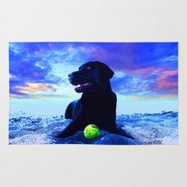 Ziggy Black Labrador Rug