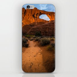Path To Skyline Arch At Sunset - Moab, Utah iPhone Skin