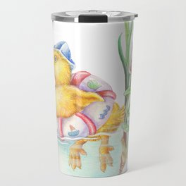 The duck in a pond Travel Mug