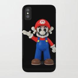 Skull Mario iPhone Case