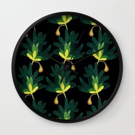 Pears and Leaves Wall Clock