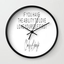 Love Quote, Gift For Her, Home Decor, Bedroom Poster, Bedroom Decor Wall Clock