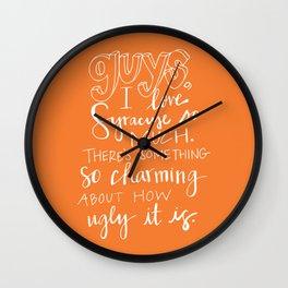 I Love Syracuse Wall Clock