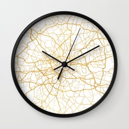 LONDON ENGLAND CITY STREET MAP ART Wall Clock