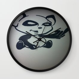 Panda With Attitude Wall Clock