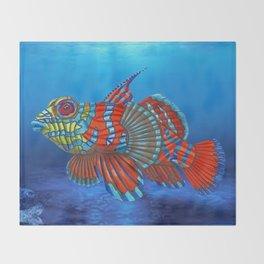 Mandy, the Mandarin Fish Throw Blanket