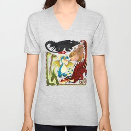 HTTYD- Dragons/Toothless and gang Unisex V-Neck