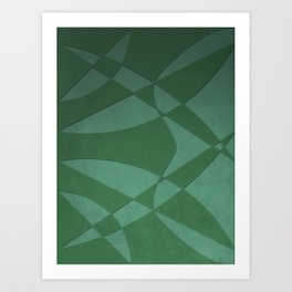 Wings and Sails - Green and Light Green Art Print