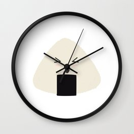Origini cute rice face Wall Clock