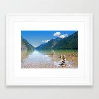 watchmen Framed Art Prints featuring Watchmen of the Lake by Doug Burke