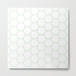 Honeycomb Mint Green #192 Metal Print