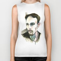 depression Biker Tanks featuring Portrait of Depression by ArtbyLumi