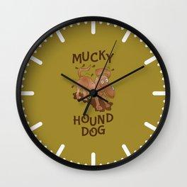 Mucky Hound Dog Wall Clock