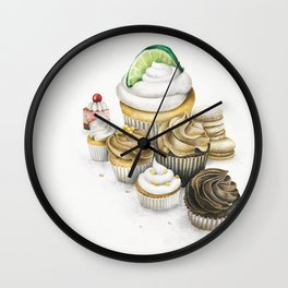 Sweet Energy Cupcakes Wall Clock