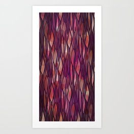 Rouge Willow Art Print