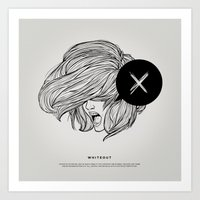magnani Art Prints featuring STV - Whiteout by Gianmarco Magnani