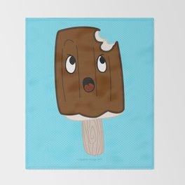 Sad Food - Topsy Turvy Ice Cream by Squibble Design Throw Blanket