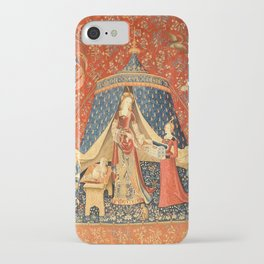 Lady and The Unicorn Medieval Tapestry iPhone Case