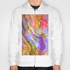 abstract crystal x Hoody