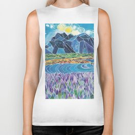 Lavender Fields Biker Tank