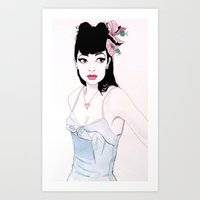 mac Art Prints featuring ABBIE MAC by michael newton